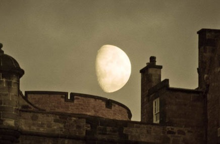 Moon over Edinburgh Castle by Nick Redhead (edited)