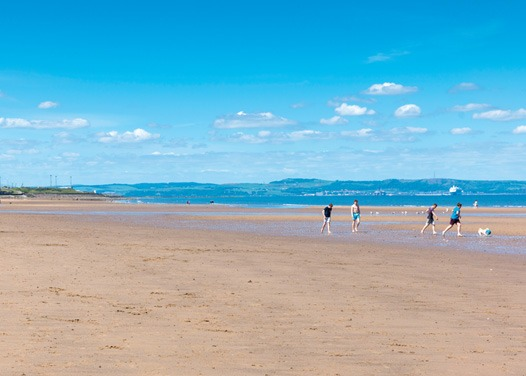 Portobello Beach is the perfect dog walking route